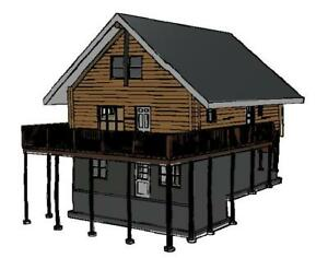 26 x 34 log cabin package wholesale for Home hardware house packages