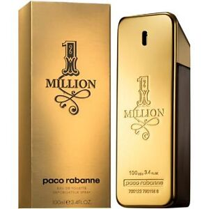 One Million *1 Million* By Paco Rabanne Edt 3.4 Oz 100 Ml Spray New Sealed