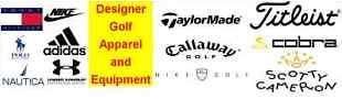 Designer Golf Apparel and Equipment