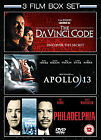 Apollo 13/Philidelphia/The Da Vinci Code (DVD, 2009, 3-Disc Set, Box Set)