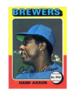 1975 Topps Hank Aaron Milwaukee Brewers 660 Baseball Card