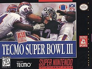 Super Bowl III -- Final Edition (Super Nintendo Entertainment System, 1995)
