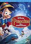 Pinocchio DVD 2 Disc Set 70th Anniversary Platinum Edition FREE SHIPPING! Disney