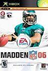 Madden NFL 06 Microsoft Xbox Video Games