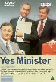 Yes Minister  Series 1 DVD 2001 - <span itemprop='availableAtOrFrom'>Welshpool, Powys, United Kingdom</span> - Yes Minister  Series 1 DVD 2001 - Welshpool, Powys, United Kingdom