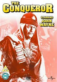 The-Conqueror-John-Wayne-DVD-Susan-Hayward-New-Sealed-Original-UK-Release-R2