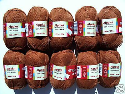 (88,00€/1kg) 500g 100% ALPAKA weiche reine Alpakawolle Wolle ALPACA Nussbraun  online kaufen
