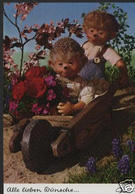 AK Mecki original Diehl Nr. 443 neu Geburtstag Wünsche Kinder Blumen Glückwunsch