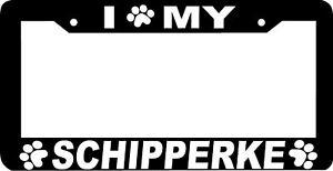 image is loading schipperke dog paw print license plate frame - Dog License Plate Frames