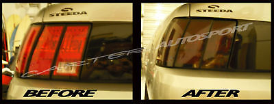 Mustang Smoked Tinted Tail Light Covers Vinyl 99 04