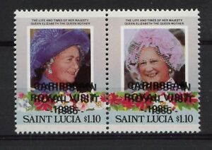 St-Lucia-1985-SG-849a-1-10-Royal-Visit-Pair-Error