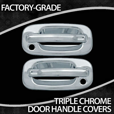1999-2006 Chevy Silverado 2dr (with Passenger Keyhole) Chrome Handles Covers on sale