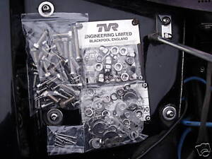 tvr chimaera and griffith stainless steel nuts bolts screws underbonnet kit ebay. Black Bedroom Furniture Sets. Home Design Ideas