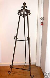 FRENCH-DESIGN-EASEL-WROUGHT-IRON-LARGE-NEW
