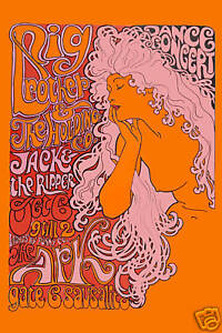 1960's Psychedelic: Janis Joplin & Big Brother  * The Ark *  Concert Poster 1967