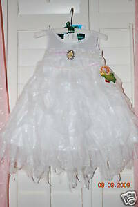 Disney-Store-Tinkerbell-Fairies-Costume-Dress-The-Arrival-White-Angel-Gorgeous