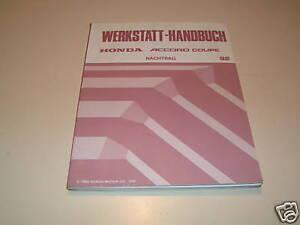 Werkstatthandbuch-Honda-Accord-Coupe-Stand-1992