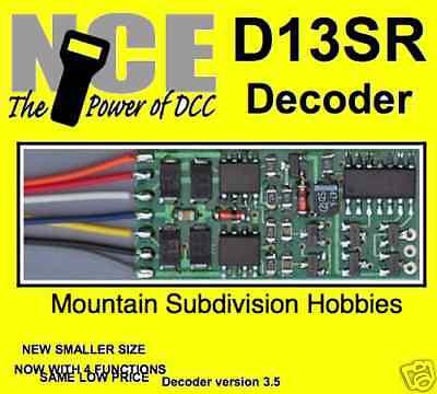 NCE 100 D13SR DCC DECODER HO 4 function Universal wired MODELRRSUPPLY-com