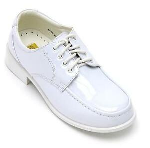 Toddler/Kid BOYS FORMAL SHINY DRESS SHOES WEDDING WHITE