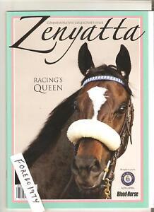 ZENYATTA-56-page-COMMEMORATIVE-BLOOD-HORSE-COLLECTORS-PROGRAM-MINT-NO-LABEL