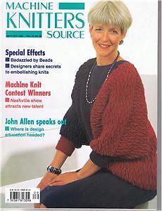 MACHINE KNITTERS SOURCE~SEPT 1993~JOHN ALLEN~KNITTING