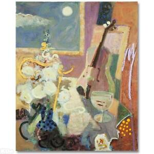 Sabzi-Still-Life-with-Violin-Limited-Edition-Giclee-on-Paper-W-COA