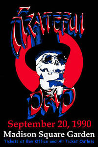 Grateful dead at the madison square garden poster 1990 for Dead and company madison square garden