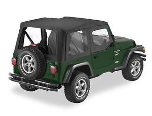 97 02 Jeep Wrangler Tj Black Denim Upper Door Skins Ebay