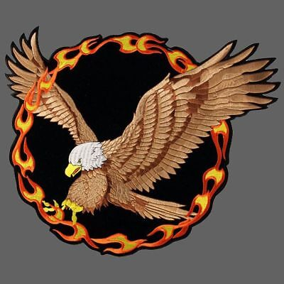 Ring Of Fire Eagle Biker Patch 4 Inch Patch