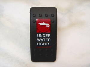 SWITCH 2 RED LENS UNDER WATER LIGHTS V1D1G66B CARLING CONTURA BOATINGMALL