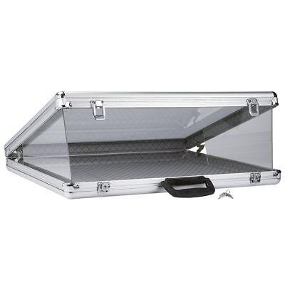 Aluminum Swap Meet Flea Market Travel Dispaly Storage Case Glass Top Organizer