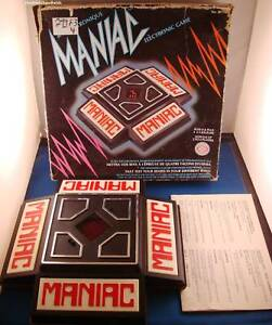 IDEAL-MANIAC-ELECTRONIC-HANDHELD-TABLETOP-VINTAGE-GAME