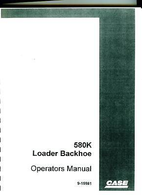 Case 580k Loader Backhoe Operation Maintenance Manual