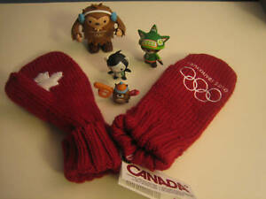 2010 olympic adult red mittens