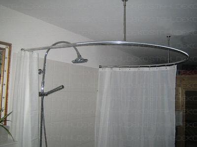 winkel duschvorhangstange u form wand deckenbefestigung ebay. Black Bedroom Furniture Sets. Home Design Ideas