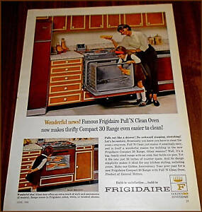 Details about 1965 FRIGIDAIRE Compact 30 Range Stove Retro KITCHEN ADRetro Kitchen Ad