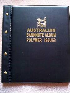 AUSTRALIAN-DECIMAL-POLYMER-BANKNOTE-ALBUM-BLACK-Colour-with-ILLUSTRATED-PAGES
