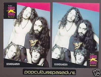Soundgarden Chris Cornell Band 1991 Pro Set Music Super Stars 2 Cards