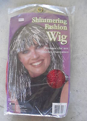 Long Shimmering Red Woman's Wig Look