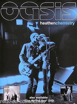 OASIS 2002 HEATHEN CHEMISTRY ORIGINAL PROMO POSTER