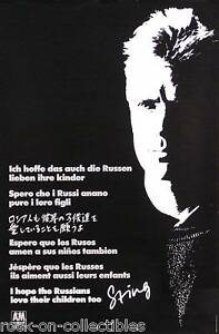 The-Police-Sting-1986-Russian-Blue-Turtles-Original-Promo-Poster