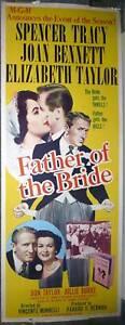 FATHER-OF-THE-BRIDE-original-poster-ELIZABETH-TAYLOR-JOAN-BENNETT-rolled-14x36