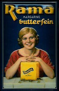 RAMA-Margarine-SEGNO-metallo-insegna-3D-rilievo-Arco-Tin-Sign-20-x-30-cm