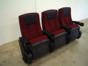 Theater Chairs Home Theatre Chair Movie Seats Seating Burgandy Fabric EBay