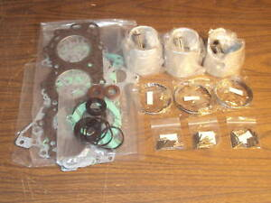 Yamaha 3 Cyl Powerhead Rebuild Kit 40hp 50hp 1984-Later