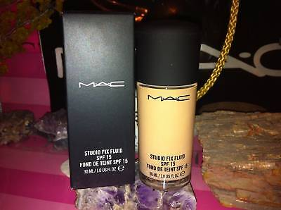 Mac Studio Fix Fluid Foundation  Nc20  In Box Authentic From A Mac Store