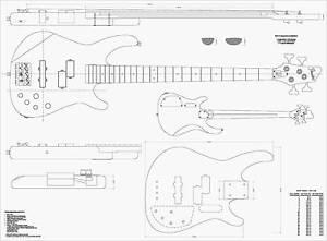 Guitar-Plans-Fender-Dimention-Bass-FULL-SIZE-PLANS