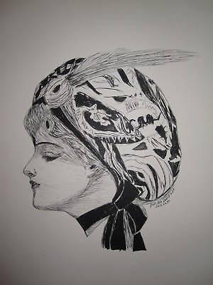 ANTIQUE 1914 ART NOUVEAU DECO GIBSON GIRL FINE ART FASHION HISTORY HAT COUTURE