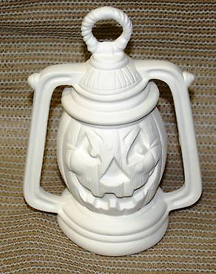 Ceramic Bisque Pumpkin Lantern Kansas Mold 200 U-Paint Ready To Paint