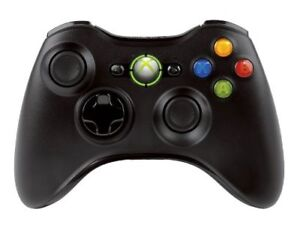 New Official Microsoft Xbox 360 Slim Glossy Black Wireless Controller NSF-00001